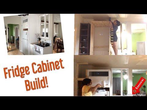 How To Build a Fridge Cabinet/ Enclosure | Extreme Kitchen Renovations | DIY