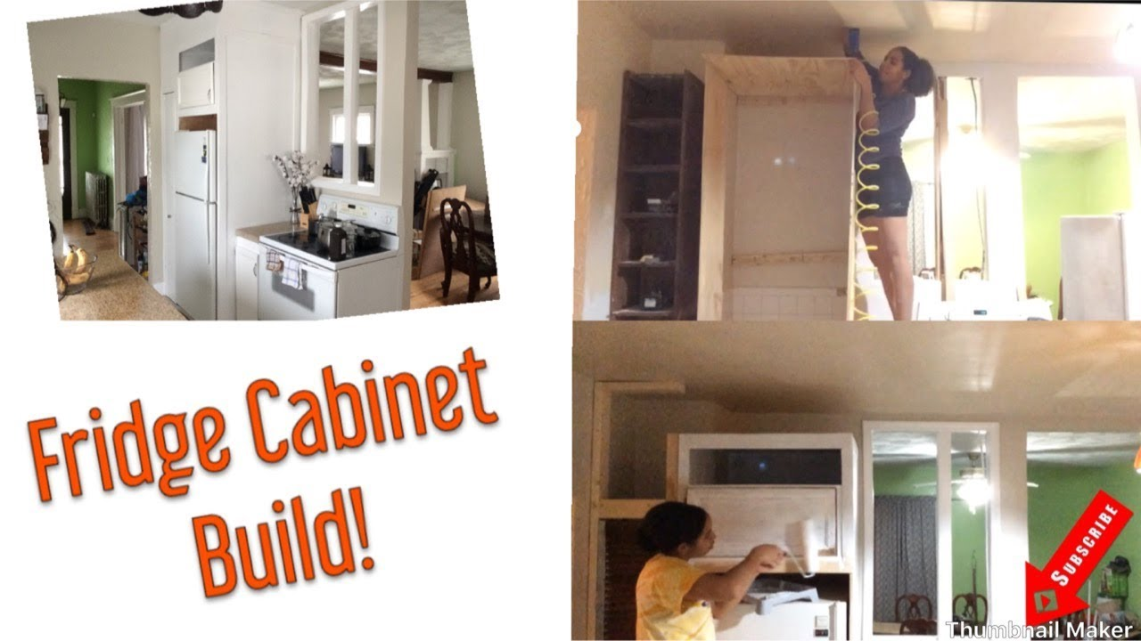 How To Build a Fridge Cabinet/ Enclosure | Extreme Kitchen ...