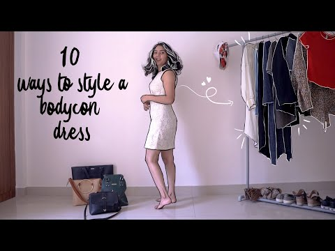 10 ways to style a bodycon dress. http://bit.ly/2GPkyb3