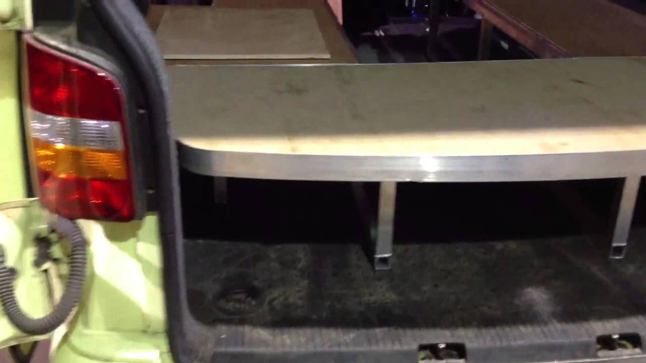My VW T5 custom built BANQUETTE - YouTube Banquette Vw T on