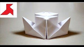 как сделать из бумаги двухтрубный кoраблик