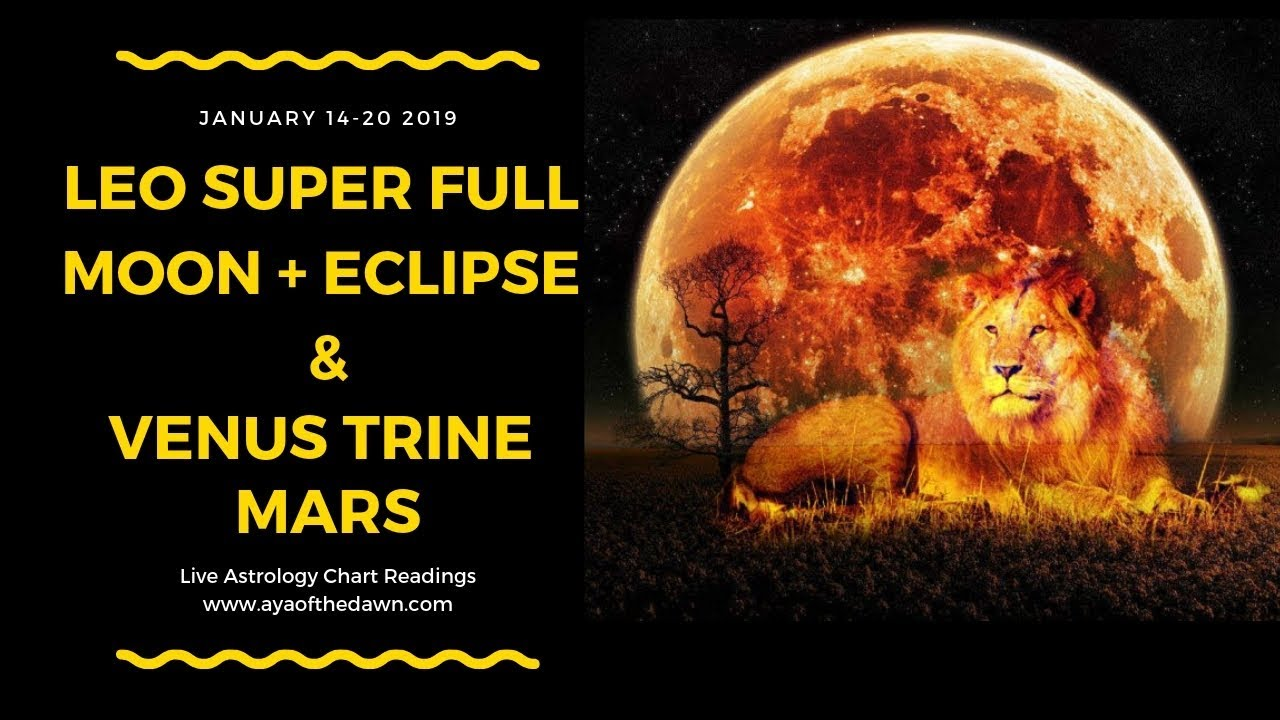Astrology Transits & Readings | January 14-20 | Super Full Moon Eclipse in  Leo | Mars Trine Venus