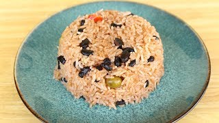 Dominican Rice and Beans - Moro de Habichuela Negras - Black Beans and Rice Recipe