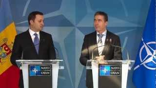 Joint Press Point - NATO Secretary General Joint Press Point with the Prime Minister of Moldova