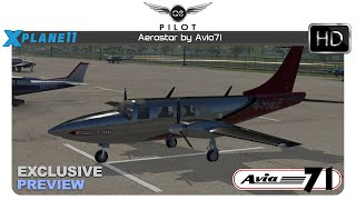 [X-Plane]  Avia71 Aerostar 601P for X-Plane 11 |  Exclusive Preview