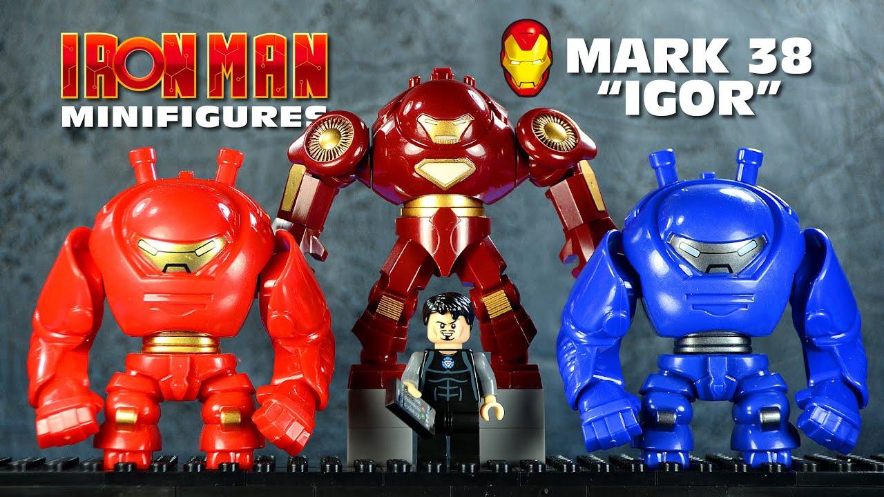 lego iron man mark 38 igor heavy lifting suit tony stark youtube