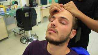 ASMR Turkish Barber Face,Head and Shoulder Massage 128 💆‍♂️👍💈💈