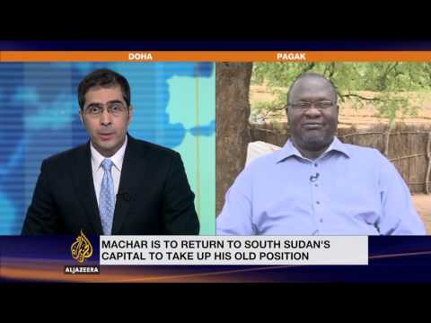 Exclusive: South Sudan's Machar says blocked from Juba