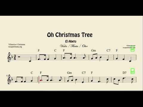 Oh Christmas Tree Sheet Music For Violin Flute And Oboe El Abeto