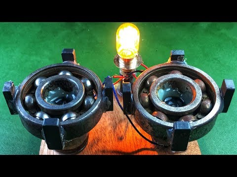Electric Free Energy Light Bulb With Magnets Using DC Motor New technology idea Project en streaming