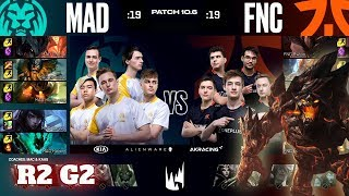 Fnatic vs Mad Lions - Game 2 | Round 2 PlayOffs S10 LEC Spring 2020 | FNC vs MAD G2
