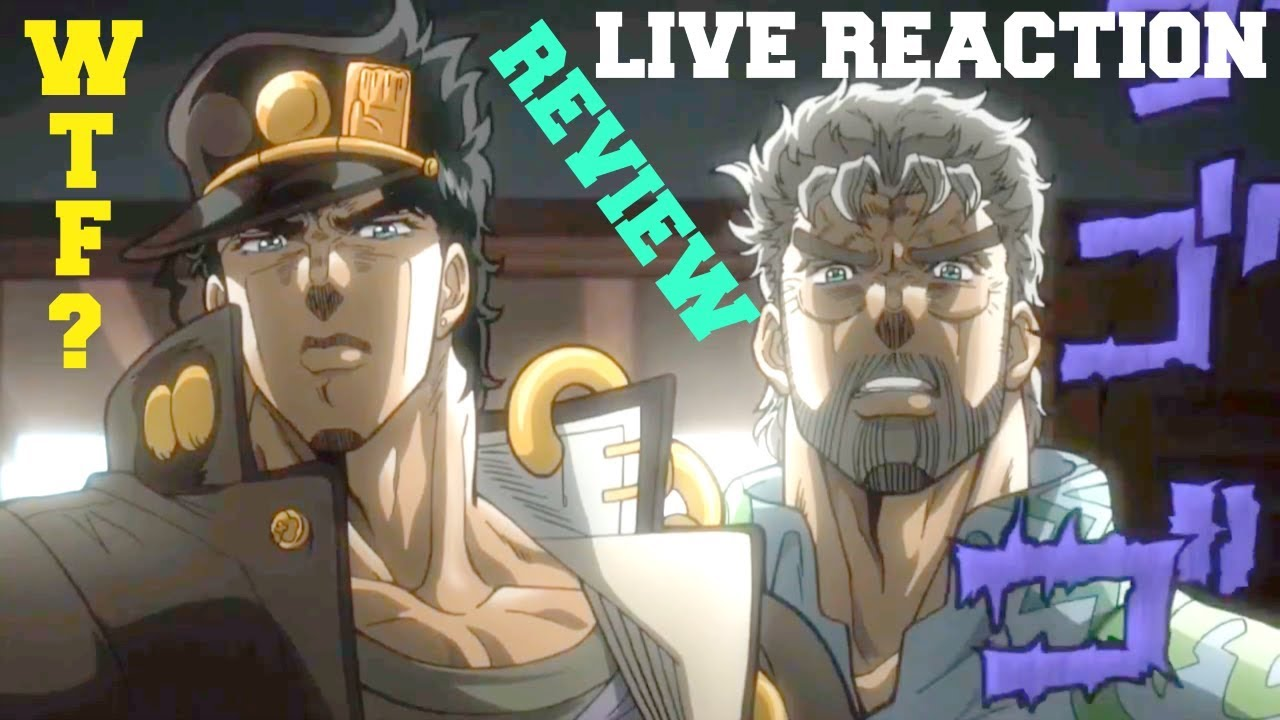 LIVE REACTION/REVIEW - JoJos Bizarre Adventure: Stardust Crusaders Episode  3 English Dub