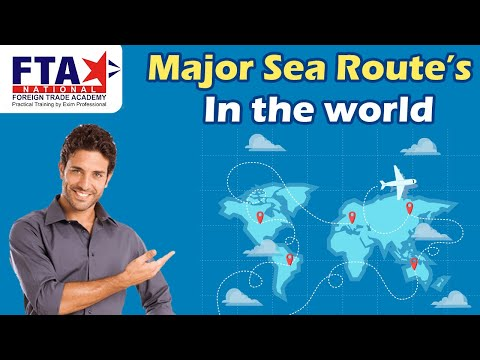 Major sea routes In World ( Foreign Trade )