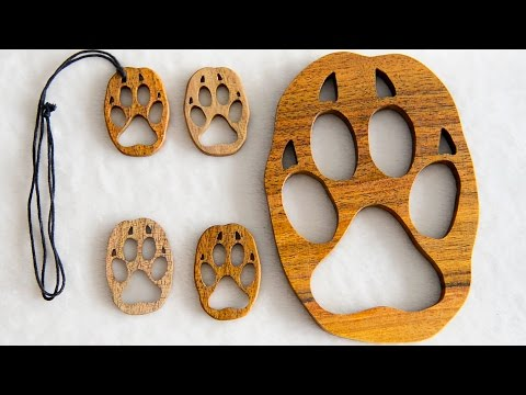 How to make: Wooden Wolf Paw Pendant, Keychain or Wall Decor