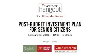 Episode 60: Post Budget investment plan for senior citizens