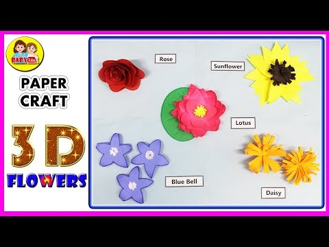 How to Make 3D Flowers with Paper - 3D Flowers - Paper Crafts