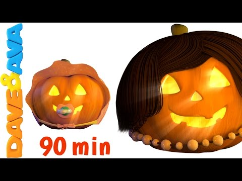 Halloween Finger Family Song  Five Little Pumpkins  Halloween Songs Collection from Dave and Ava