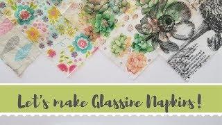 Making Glassine Napkins!