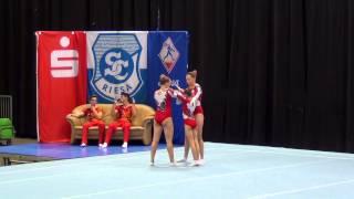 Sachsenpokal 2014   066   WG   Senior   Dyn   KAZ   Almaty SC, Veronika Khudyakova, Olessya Solovyov