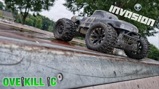 4s LiPo Traxxas Stampede 4x4 Invades the Skatepark | Edit & Running Footage | Overkill RC