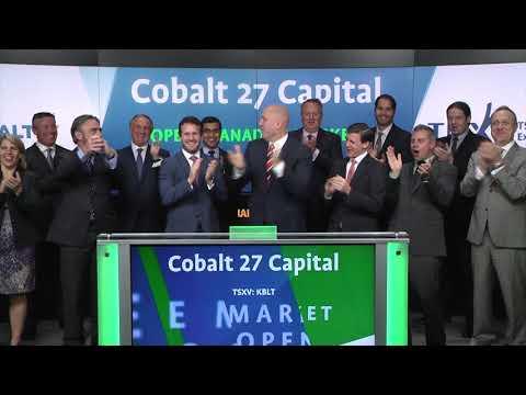 Cobalt 27 Capital Corp. opens Toronto Stock Exchange, September 13, 2017