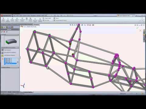 SolidWorks Education SAE Frame Analysis