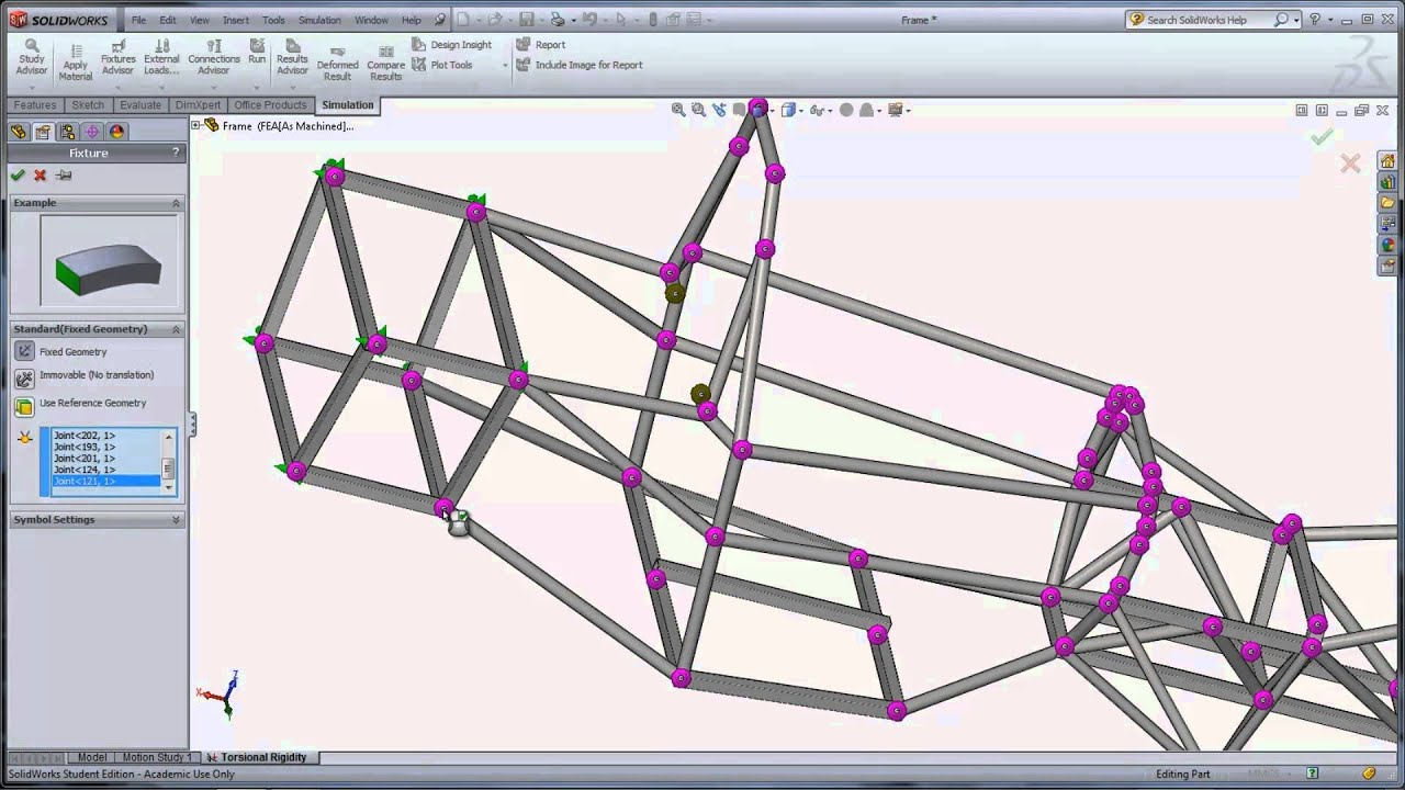 Solidworks Education Sae Frame Analysis Youtube