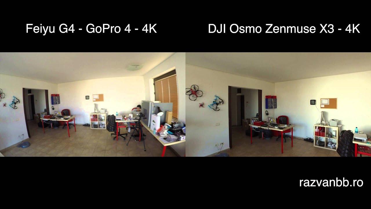 DJI Osmo Zenmuse X3 Vs Feiyu G4