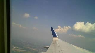 Despegando desde el aeropuerto de Newark, New Jersey
