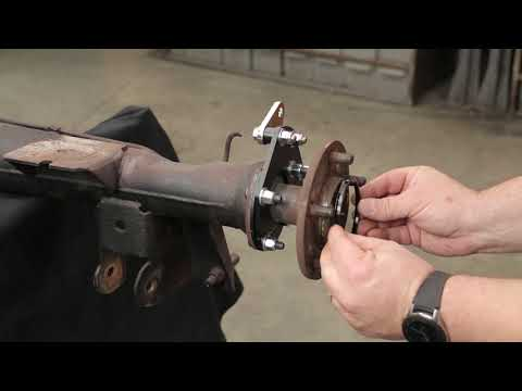 Video Demonstration Of A Rear Drum To Disc Brake Conversion