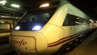 Tren Alvia Irun Bilbao sale de Barcelona Sants - renfe 120 - 2013