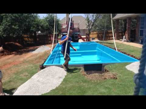 Leisure Pools Ultimate Fiberglass Pool Installation - Youtube