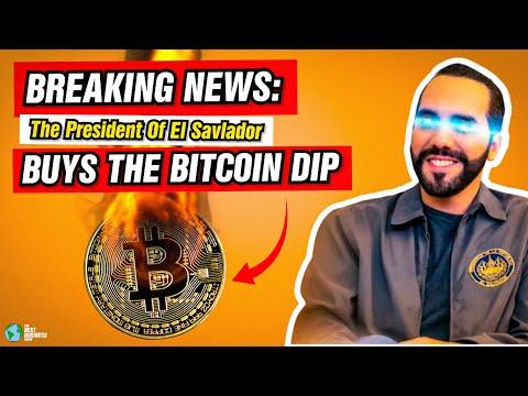 BREAKING NEWS: The President Of El Salvador Bought The Bitcoin Dip