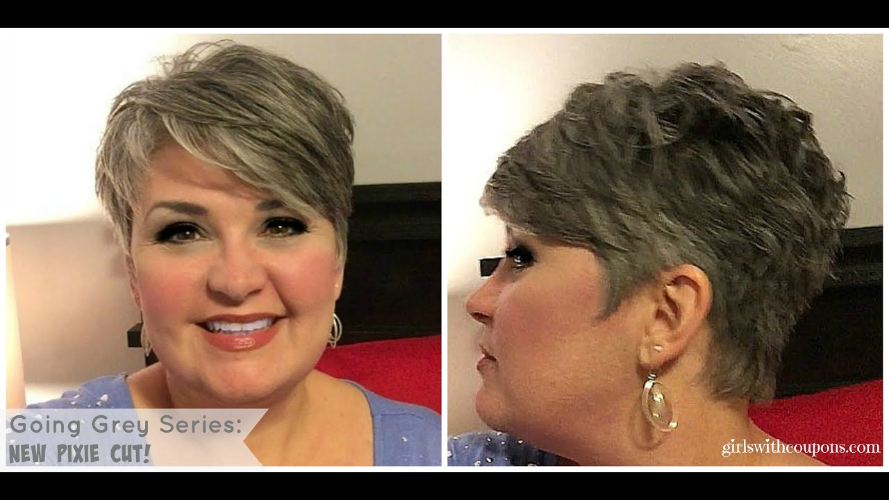 Very Short Hairstyles: Going Grey Series: The New Pixie And Styling Paste For