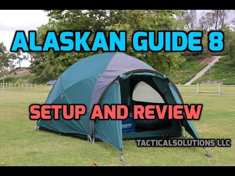 Cabelas Alaskan Guide 8 Person Tent - Review/Setup HD & Cabelas Alaskan Guide 8 Person Tent - Review/Setup HD - YouTube