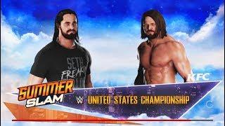 WWE-2K18-A.J. Styles vs. Seth Rollins- WWE-U.S Championship Match- Normal Match-SummerSlam