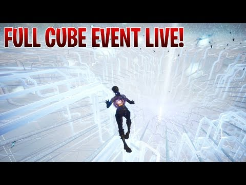 FINAL CUBE EVENT LIVE | FULL CUBE EVENT | BUTTERFLY EVENT | FORTNITE BATTLE ROYALE