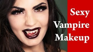 SEXY VAMPIRE Halloween and Masquerade Makeup Tutorial Thumbnail