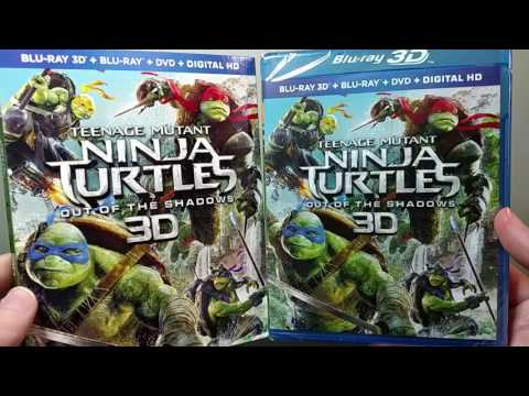 Teenage Mutant Ninja Turtles: Out of the Shadows 3D Blu-ray Unboxing