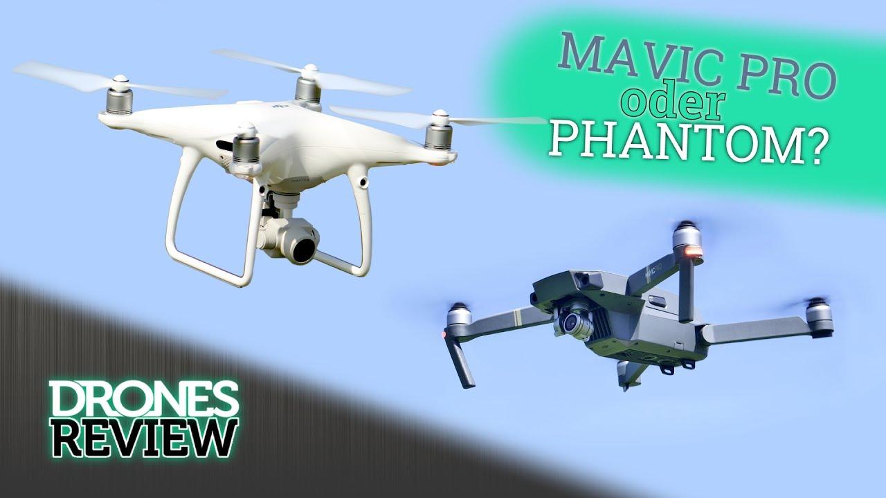 MAVIC PRO oder PHANTOM 4? Der Vergleich - welche Drohne