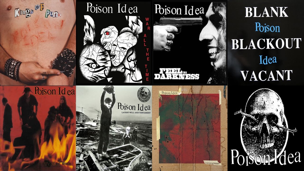 POISON IDEA FULL MAIN DISCOGRAPHY HIGH QUALITY SOUND - YouTube