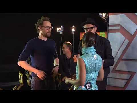 "The cast of 'Thor: Ragnarok' playing ""Ragnarok Paper Scissors"""
