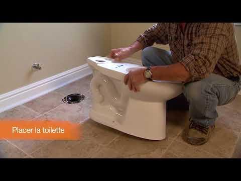 Comment installer des toilettes
