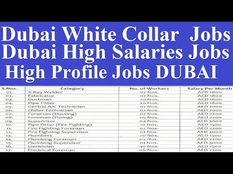 Dubai White Collar Category Jobs l High Profile Jobs in