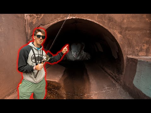 Fishing Creepy Tunnel For Urban Creek Bass! -- (Dallas Fishing)