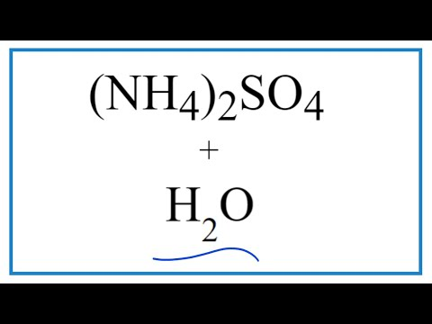 Equation For (NH4)2SO4 + H2O     (Ammonium Sulfate + Water)