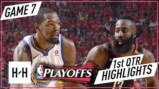 Golden State Warriors vs Houston Rockets -  Game 7 - 1st Qtr Highlights | 2018 NBA West Finals