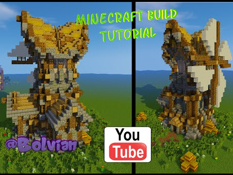 Minecraft: Medieval Windmill Build Tutorial