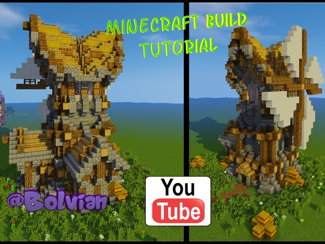 Minecraft: Medieval Windmill Build Tutorial