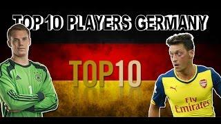 Top 10 Fußballspielers Deutschland // Top 10 Football Players Germany
